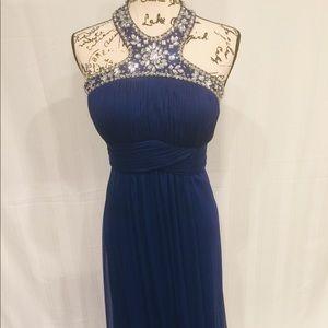 Xscape Formal Jeweled Holiday Dress